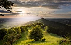 Castleview (simonpe86) Tags: castle contrast schloss tree cut burghohenzollern germany sky green deutschland hill shadow clouds