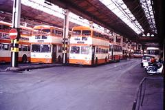 Hyde Road Depot (ee20213) Tags: greatermanchestertransport metrocammell fne737d hyderoaddepot 4616vm daimlerfleetline gmpte 4737 4616 gmt