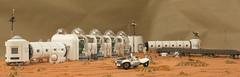 Arsia Prime | 8 (eldeeem) Tags: lego mars colony settlement greenhouse vegan rover flesh nougat exploration science scifi
