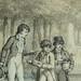 MONNET Charles - La Promenade (drawing, dessin, disegno-Louvre RF34443) - Detail 12