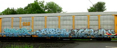 systo - aires - mekan (timetomakethepasta) Tags: systo ktc tsr aires mekan sweat shop csx autorack freight train graffiti art benching selkirk new york photography