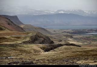 View from Bæjardalsheiði, Iceland