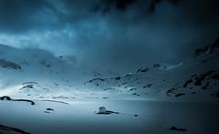 The cabin (Torehegg) Tags: norway winter storm mountain panorama winternight snow haukeli cabin
