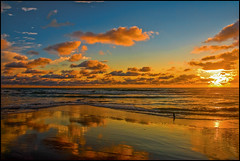 Atlantic Ocean - Golden Sunset At Low Tide (angelofruhr) Tags: pinnaclephotography groupenuagesetciel