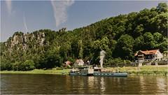Sächsische ElbDampfSchifffahrt (firlie-de) Tags: firlie rathen elbe dampfschiff schaufelraddampfer