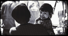 In Bangkok (Julien Cha.) Tags: bangkokportrait girl blackandwhite krungthep frame bangkok asia