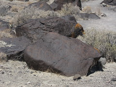Petroglyph at Grimes Pt petroglyph area in Nevada-05 6-29-13 (lamsongf) Tags: rockart petroglyph nativeamerican americanindian nevada grimespoint