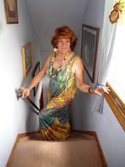 Anticipation (Laurette Victoria) Tags: dress woman laurette maxi necklace auburn