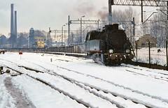 Tkp-5869  |  Bytom, Upper Silesia   |  1993 (keithwilde152) Tags: tkp slask kwk bobrek bytom upper silesia poland 1993 yard tracks industrial coal mine steam locomotives outdoor spring snow