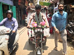 The Garden of Adam (Mayank Austen Soofi) Tags: delhi walla flower rickshaw puller the garden adam