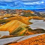Iceland ~ Landmannalaugar Route ~ Ultramarathon is held on the route each July thumbnail