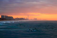 Surfers at sunset - Tel-Aviv beach (Lior. L) Tags: surfersatsunsettelavivbeach surfers sunset telaviv beach sea surf beaches travel sport telavivbeach travelinisrael israel landscape