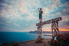 At the top of Dzhankutaran (АлексейКрылов) Tags: nikon nikond3 крым черное море sigma20mm landscape sea sunset top mountain