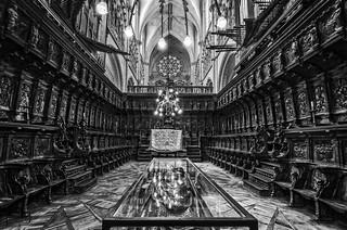 El coro de la catedral.