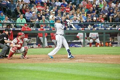 Nelson Cruz check swing strikeout (hj_west) Tags: baseball philadelphiaphillies seattlemariners safecofield mlb interleague stadium night sports