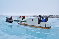 DSC_1202 (JillScoby) Tags: qamutik arctic baffinisland pondinlet floeedge eagleeyetours snowmobile nunavut inuit