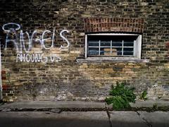 Angels Among Us (geowelch) Tags: toronto parkdale urbanfragments graffiti brick wall angels alley panasoniclumixgx1 panasoniclumixgvario1232mm3556