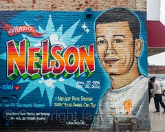 """In Memory of Nelson"" Mural by Tats Cru (2016), Foxhurst, Bronx, New York City (jag9889) Tags: 2017 20170605 allamericacity bg183 bio bronx foxhurst graffiti graffitiartist how memorial memory mural muralist nosm ny nyc newyork newyorkcity nicer outdoor painting portrait tagging tatscru thebronx themuralkings usa unitedstates unitedstatesofamerica wall jag9889 us"