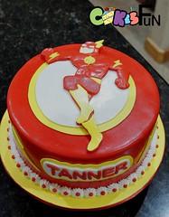 Flash Super Hero Birthday Cake (bsheridan1959) Tags: flashsuperhero flash birthdaycake fondant cake superhero boyscake