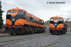 071 and 073 at Inchicore, 7/7/17 (hurricanemk1c) Tags: railways railway train trains irish rail irishrail iarnród éireann iarnródéireann dublin inchicore 2017 retrotrain irishrail30 iarnródéireann302general motorsgmemd071073irish tippex 1987