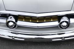 1951 Ford (bballchico) Tags: 1951 ford shoebox chopped custom carshow santamariainn grill detail chrome