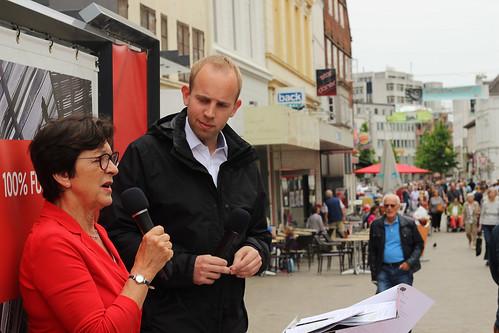 Mit meiner Kollegin Elvira Drobinski-Weiß habe ich am Lefferseck über Verbraucherschutz diskutiert.
