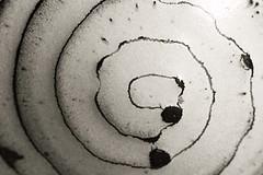 Inside: Ceramic bowl (zelart) Tags: zelhunt zelart zel inside spiral ceramic glaze