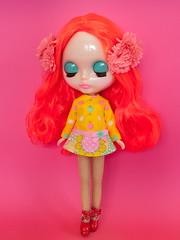 Mod Dress Spam! (Helena / Funny Bunny) Tags: funnybunny solidbackground poppypomegranate nostalgicpop custom reroot rbl blythe