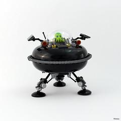 UFO - We are not alone... (Kloou.) Tags: kloou lego ufo spaceship alien ovni space satellite npu et moc