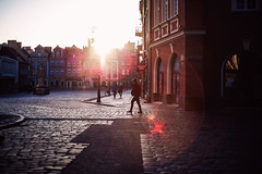 sonic boom (ewitsoe) Tags: rynek oldmarket poland poznan city spring early view monring sunrise canon people flare lens 50mm cityscape buildings architecture urban man women lady sun dawn sky
