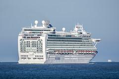 P & O Cruises Azura leaving Southampton (Perfect Moment Images) Tags: po pando cruises cruise ship azura southampton solent iow isle of wight portsmouth
