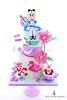Alice in Wonderland Cake (Little Cottage Cupcakes) Tags: littlecottagecupcakes aliceinwonderland cake aliceinwonderlandcake birthday alice madhatter rabbit flamingo momerath cardsoldier whiterabbit pocketwatch eatme childrenscake