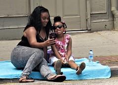 Festival selfie, Federal Hill Jazz & Blues Festival, Baltimore, Maryland (A CASUAL PHOTGRAPHER) Tags: portraits families women children baltimore maryland africanamericans festivals bridgecamera canonpowershotsx50hs street selfie mothers daughters