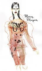 Fashion illustration for Maison_Margiela Paris FW couture fall 2017 by Alexandra Gritz (AGartist) Tags: maisonmargiela fashionart fashionillustration fineart watercolor artdirection alexandragritz couture