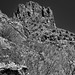 A Different View and Look to Thimble Peak (Black & White, Sabino Canyon)
