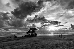 Salute ~ Black & White (prose729) Tags: peteriredale oregon pacificocean pacificnorthwest ocean sea coast ship shipwreck blackwhite monochrome seascape