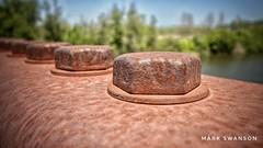 Bolts (mswan777) Tags: bolt metal steel nut bridge paw river michigan harbor shores benton walk golf course detail macro nikon d5100 sigma 1020mm outside rust washer