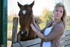 Girl's Horse (The Colour of Air) Tags: girl woman horse blonde petting windblown