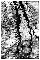 Abstract Tree Reflections on Swirling Water 1037 (918monty) Tags: nik niknoir water reflections abstract swirlingwater black white blackandwhite monochromatic allentexas lakes treereflections waterart
