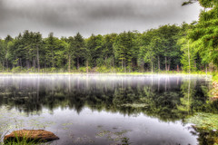 Misty reflections (macnetdaemon) Tags: outdoor outside nature landscape hdr water reflection cloud sky forest plant canon 7d markii