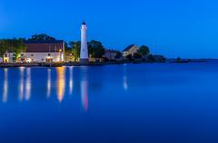 """Twilight Karlskrona, Sweden (part of Unesco world heritage site """"Naval Port of Karlskrona"""") (Maria_Globetrotter) Tags: summer sweden img7969hdrlr naval town lighthouse blue hour unesco världsarv sverige"""