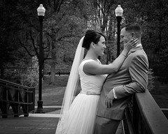 """""""TITLE WANTED (Peter Camyre) Tags: portrait portraits peter camyre photography people friends canon 5d mkiii ef2470mmf28liiusm monochrome wedding couple elm park bridge worcester mass massachusetts may 13 2017 pictures black white married husband wife portraiture smile smiling image photos"""