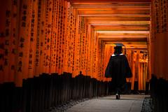 我在稻荷神社拍到畢業 (鹽味九K) Tags: 稻荷神社 京都 伏見稻荷大社 kyoto temple 廟 5dlll canon