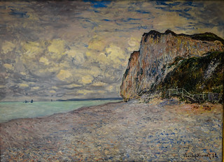 Claude Monet - Cliffs near Dieppe, 1882 at Carnegie Museum of Art - Pittsburgh PA