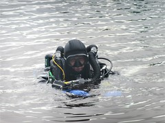 Deep thoughts (chemsuiter) Tags: quarry quarrydiver rebreather onthesurface