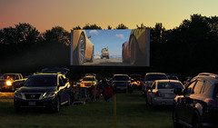Drive-In (DaveLawler) Tags: theater drive drivein cars park lot grass night movie sunset parking massachusetts newengland summer america nikon nikkor