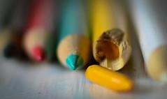 Broken (nicolechamilton) Tags: macro macromondays broken hmm crayon pencil colour bokeh color snap nikon