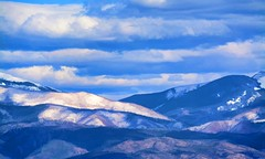 BLUE BLOOD (Irene2727) Tags: mountains nature landscape scape pano panoram blue clouds georgiaokeeffe santredecristo rockymountains snow