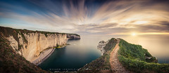 ● cliffs at etretat ● normandy ● france ● (Oliver Jerneizig) Tags: thecliffsatetretatlesfalaisesdètretatoliver jerneizig oliverjerneizigde wwwoliverjerneizigde oliverjerneizig frankreich france sunset longexposure night citylights landscape landschaft canon 6d canon6d brittany bretagne normandie hautenormandie normandy
