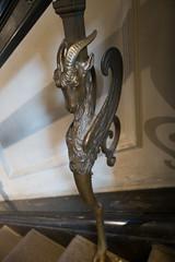 Hybrid animal on handrail (quinet) Tags: 2017 copenhagen glyptotek baluster museum statue zealand denmark